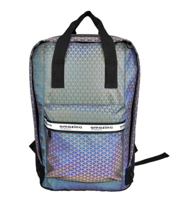 Rainbow Reflective Sports Mochilas Waterproof Travel Backpack
